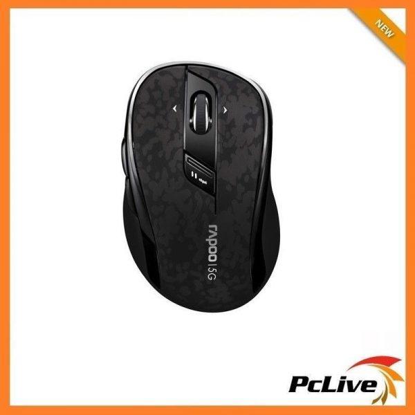 Rapoo 7100P Wireless 5GHz Optical Mouse Black 4D Scroll Wheel PC MAC Laptop