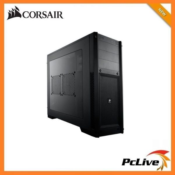 new products 2e6a5 f97a7 Corsair Carbide 300R Black Gaming Case Side Window Quiet Mid Tower 2  Cooling Fan