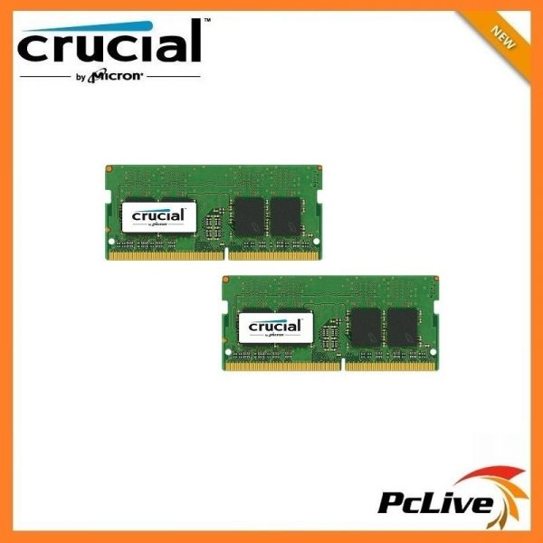 NEW Crucial 16GB DDR4 2400Mhz Memory SODIMM 2x 8GB 1 2V RAM for Laptop PC4  19200