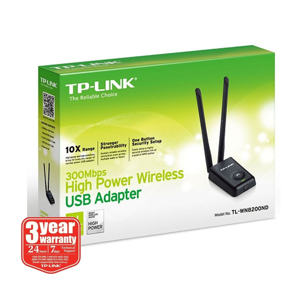 New Tp Link Tl Wn8200nd 300mbps High Power 5dbi Wireless N Usb Adapter Wn821n Network Pclive Computer