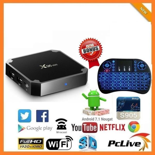 925fa23c2aa X96Mini Quad Core Android TV Box 2G RAM 16GB KODI Media Player Air ...
