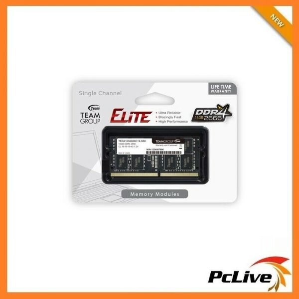Team Elite 16GB DDR4 2666 Mhz Memory High Performance Laptop RAM SODIMM  21300 PC