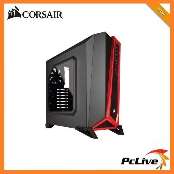 new concept 58ff6 8bf3d NEW Corsair Carbide SPEC-ALPHA Gaming Case Black Red Quiet Mid Tower USB  3.0 ATX
