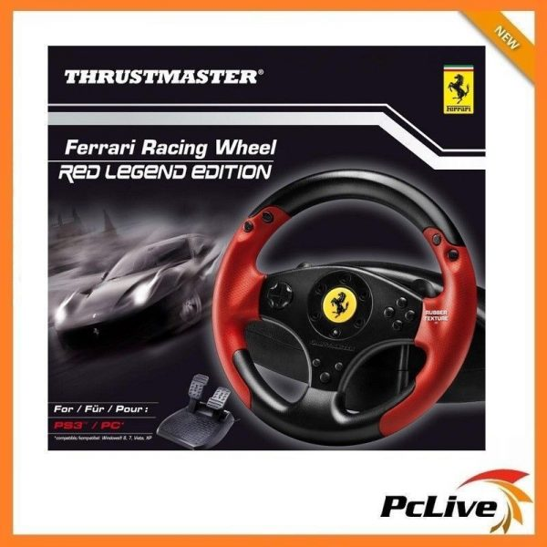 Thrustmaster Ferrari Red Legend Edition Racing Wheel For Pc Ps3