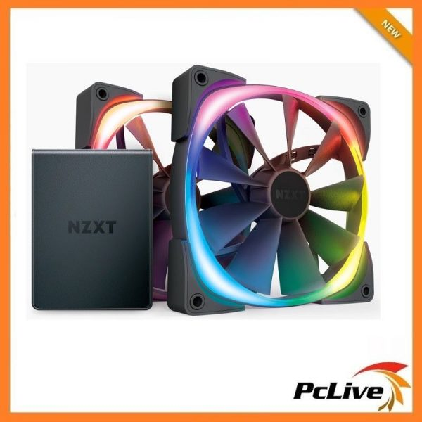 2x Nzxt 120mm Aer Rgb Ii Case Fan With Hue 2 1500rpm 4 Pin